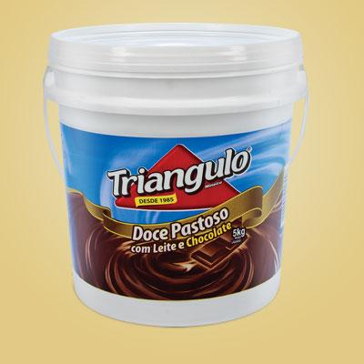 Doce Pastoso com Leite e Chocolate Triângulo Mineiro Balde 5kg