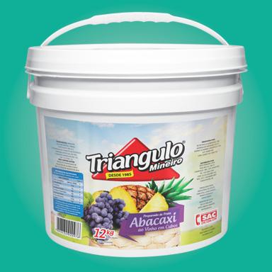 Preparado de Fruta Abacaxi ao Vinho Triângulo Mineiro Balde 12kg