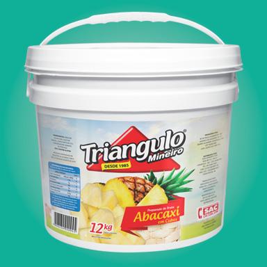 Preparado de Fruta Abacaxi Puro em Cubos Triângulo Mineiro Balde 12kg