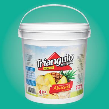 Preparado de Fruta Abacaxi Puro em Cubos Triângulo Mineiro Balde 4,1kg