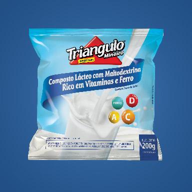 Composto Lácteo com Maltodextrina Rico em Vitaminas e Ferro Triângulo Mineiro Pacote 200g