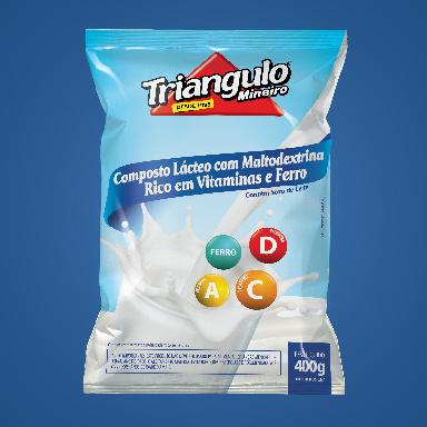 Composto Lácteo com Maltodextrina Rico em Vitaminas e Ferro Triângulo Mineiro Pacote 400g