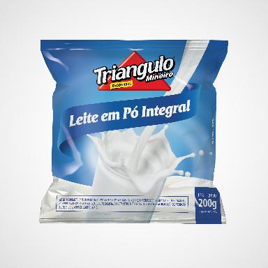 Leite em Pó Integral Triângulo Mineiro Pacote 200g