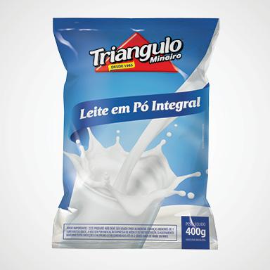 Leite em Pó Integral Triângulo Mineiro Pacote 400g