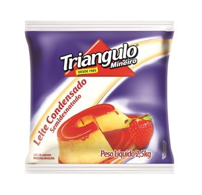 Leite Condensado Semidesnatado Triângulo Mineiro Bag 2,5kg